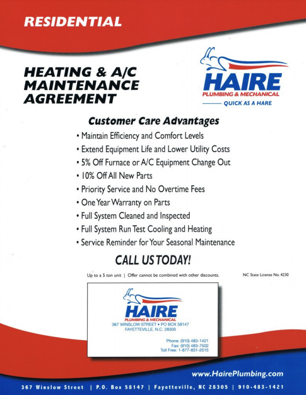 residential heating flyer